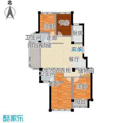 上海大公馆144.40㎡F户型尊品尚邸户型4室2厅2卫
