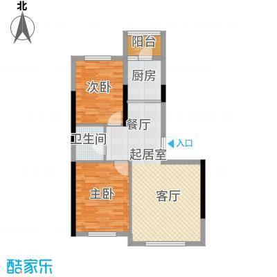 万星幸福城91.01㎡万星幸福城12#G3户型2室2厅1卫1厨 91.01㎡户型2室2厅1卫