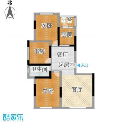 万星幸福城113.09㎡万星幸福城12#G1户型3室2厅1卫1厨 113.09㎡户型3室2厅1卫