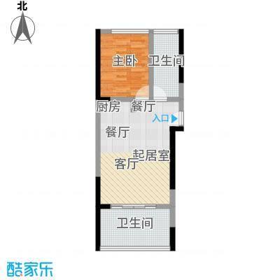 宝安虹海湾59.80㎡A户型59.8平米1房1厅1卫户型1室1厅1卫