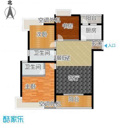 九江曼城户型3室2卫1厨