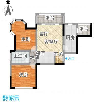 青桦逸景91.00㎡23、25、26#D户型91平米户型2室2厅1卫