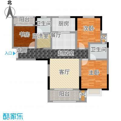 黄山府邸户型3室2卫1厨