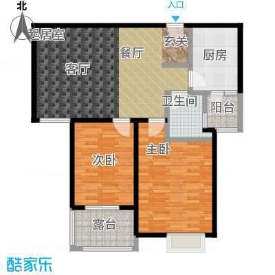 丽阳兰庭87.21㎡户型D2 两室两厅一卫 建筑面积约:87.21㎡户型2室2厅1卫