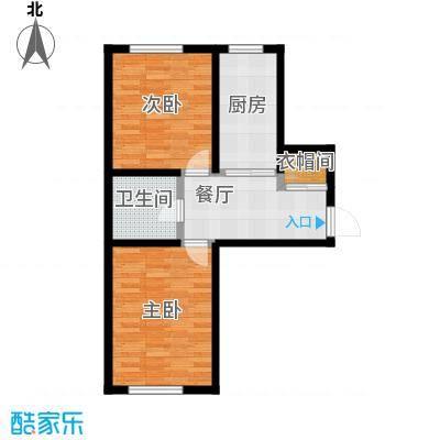 盛阳华苑82.00㎡F1户型79-82平米户型2室1厅1卫