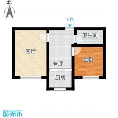 盛阳华苑67.00㎡F3户型65-67平米户型1室2厅1卫