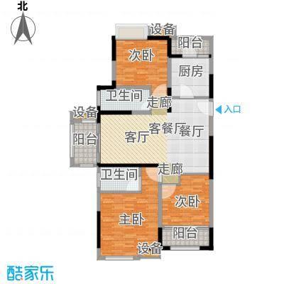 碧悦湾125.00㎡125平米三房两厅两卫户型3室2厅2卫