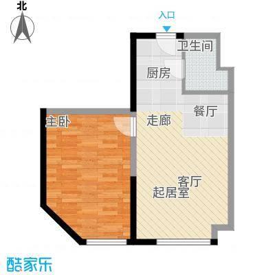 益田枫露71.55㎡D户型1室1厅1卫