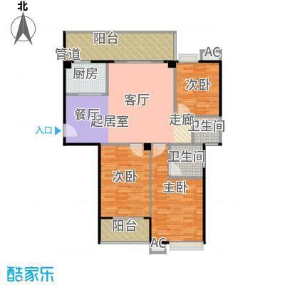丽都中央公馆112.12㎡F1户型3室2厅2卫