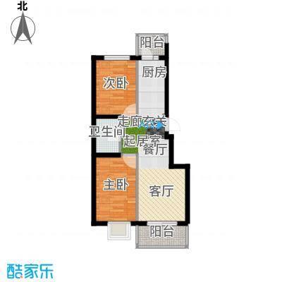 红星凯悦53.62平米户型2室1厅1卫X