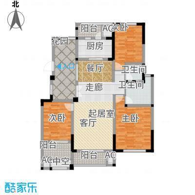 金域天下花园三房两厅两卫-143平米户型