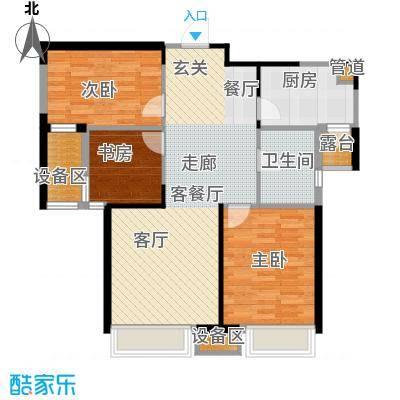 三盛颐景蓝湾104.00㎡三室两厅一卫户型3室2厅1卫
