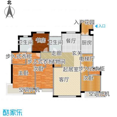 信达龙湾户型4室2卫1厨