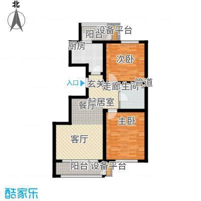 虹溪公寓87.00㎡高层B户型