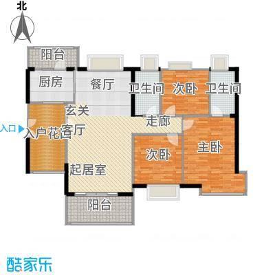 富力现代广场118.90㎡E2栋3首层-户型3室2厅2卫