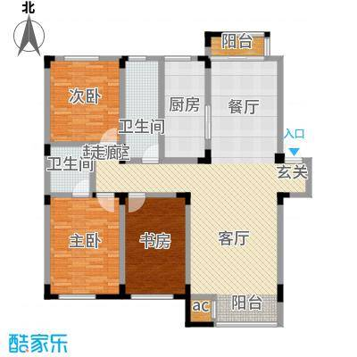 金越逸墅蓝湾136.64㎡金越逸墅蓝湾76#楼2、3、4层D户型图户型3室2厅2卫