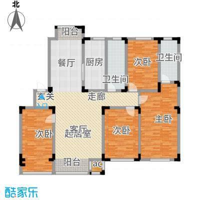 金越逸墅蓝湾168.60㎡金越逸墅蓝湾76#2、3、4层C1户型图户型4室2厅2卫