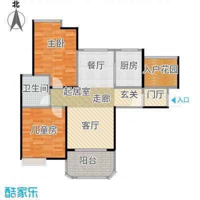 碧桂园生态城88.00㎡高层洋房J483户型2室2厅1卫