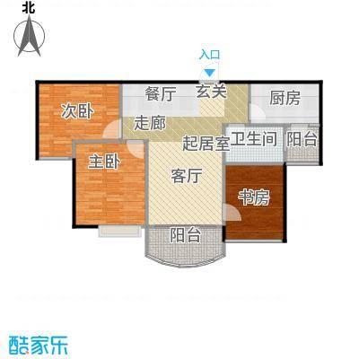 碧桂园生态城87.00㎡高层洋房J473户型3室2厅1卫