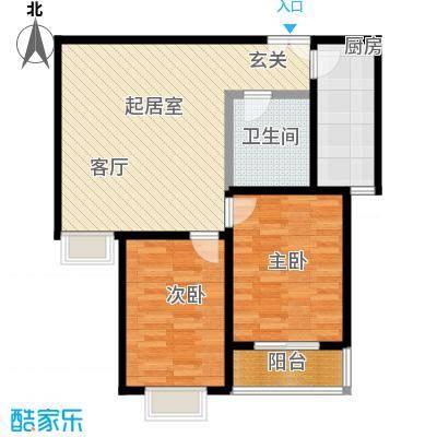 港丽城94.48㎡3号楼一、二、三单元 B户型2室1厅1卫