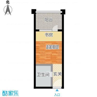 紫来龙庭60.00㎡公寓户型1室1卫 60.00㎡户型