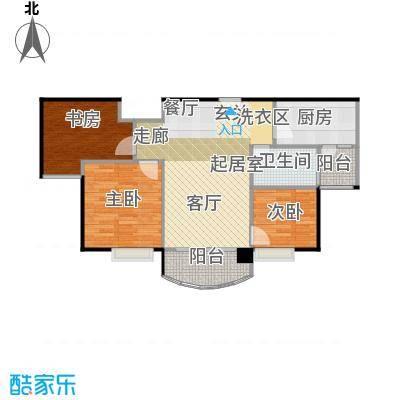 碧桂园生态城91.00㎡高层洋房J472户型3室2厅2卫