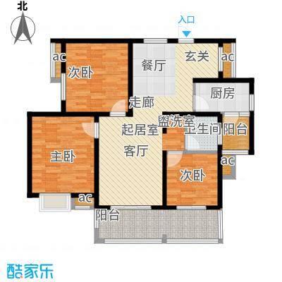 凤凰花园105.00㎡105平米三室两厅一卫户型3室2厅1卫