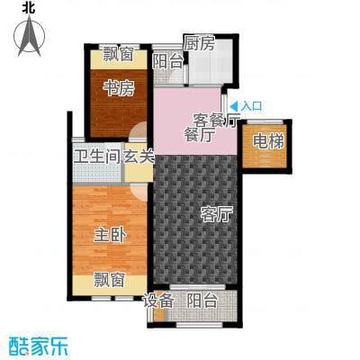 香溪左岸户型2室1厅1卫1厨