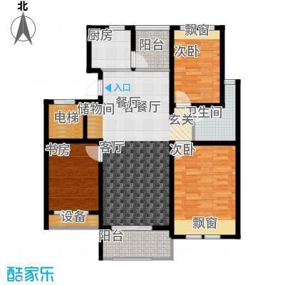 香溪左岸105.12㎡三室二厅一卫面积约105.12平方米户型3室2厅1卫
