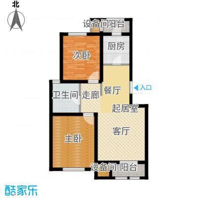 松江东湖小镇E-01户型2室2厅1卫