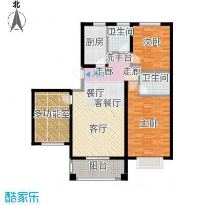 中国铁建・原香漫谷118.20㎡C1户型三室两厅两卫118.2㎡户型3室2厅2卫
