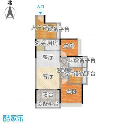 德丰凯旋城78.99㎡C1户型78.99平米2房2厅1卫户型2室2厅1卫