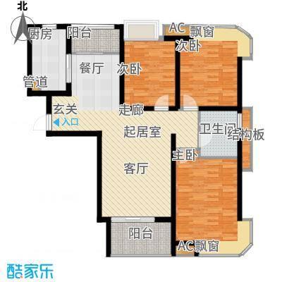 龙商荣域115.00㎡3室2厅1卫