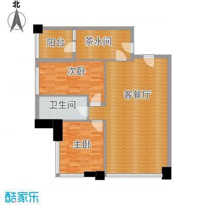 时代广场117.00㎡六号楼6-34层户型 三室两厅一卫户型