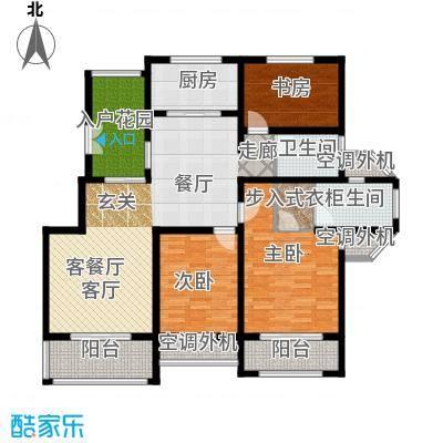 左岸尚海湾140.00㎡8/9/10# 三居室户型3室2厅2卫