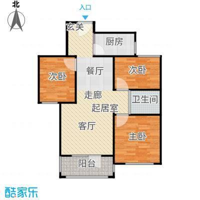 和谐牡丹园84.00㎡C户型2室2厅1卫
