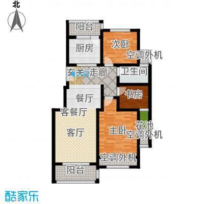 左岸尚海湾108.00㎡7号楼 三居室户型3室2厅1卫
