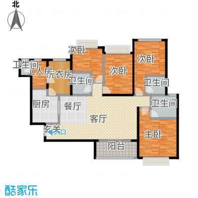 新余恒大雅苑159.84㎡4号楼1单元四户型4室2厅3卫