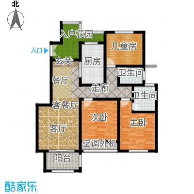 左岸尚海湾140.00㎡5/6号楼 B户型3室2厅2卫