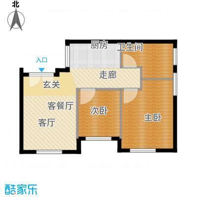 华润紫阳里74.00㎡华润紫阳里D3户型2室1厅1卫