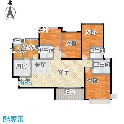 新余恒大雅苑160.00㎡7号楼1单元3号户型4室2厅3卫