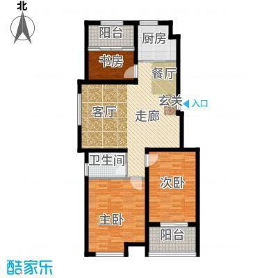 山水龙瑞99.00㎡山水龙瑞B户型3室2厅1卫99.00㎡户型3室2厅1卫