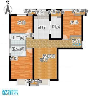 金融街和平中心141.00㎡54e-02户型3室2厅2卫