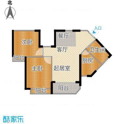 新余恒大城81.58㎡户型2室2厅1卫