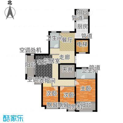 开元翡翠湾F户型3室2厅1卫