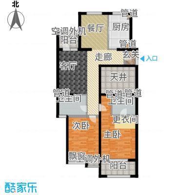 开元翡翠湾J户型2室2厅2卫