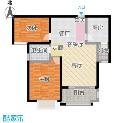 中茵龙湖国际户型2室1厅1卫1厨