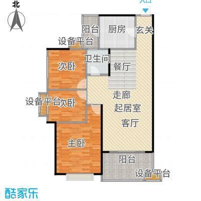 龙光城98.31㎡D-3户型三房二厅一卫户型3室2厅1卫