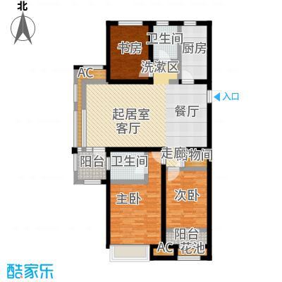 国耀上河城131.00㎡1#、2#、3#、4#、5#楼标准层01单元C1户型3室2厅2卫