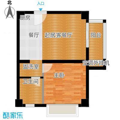 绿地学府公馆54.20㎡公寓E户型1室1厅1卫